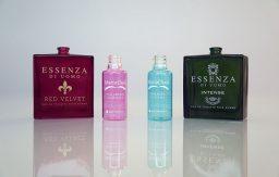 Ejemplos de envases tratados con pintura con efecto transparente.